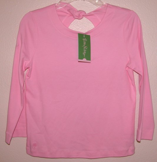 Lilly Pulitzer Tibby Top Lilly's Pink Tie Back Toddler Girls Size 4