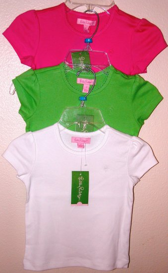 Lilly Pulitzer Lottie Top WHITE Girls Size 4 BRAND NEW
