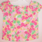 Lilly Pulitzer Ellis Top Dobby Lemon Sorbet Shughah Girls Size 8