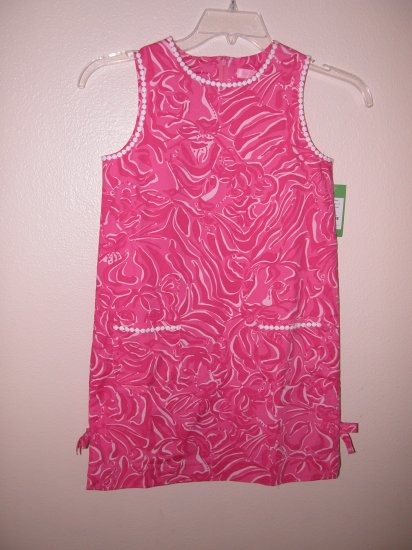 Lilly Pulitzer Little Lilly Shift Stretch Dress Palm Beach Girls Size 6