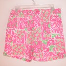 Lilly Pulitzer Cricket Printed Short Carry On Patch Girls Size 8