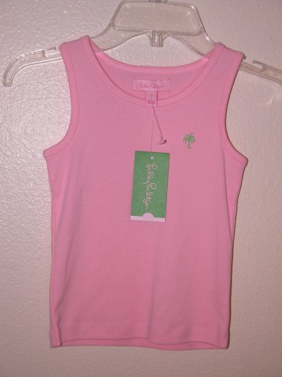 Lilly Pulitzer Lilly's Pink Teller Tank Girls Size 7 NEW