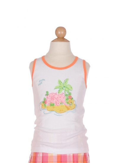 Lilly Pulitzer Novelty Teller Tank Palm Tree size 7
