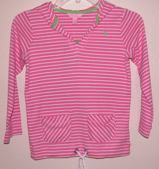 Lilly Pulitzer Essy Hoddie Jungle Princess Pink Girls Size 7