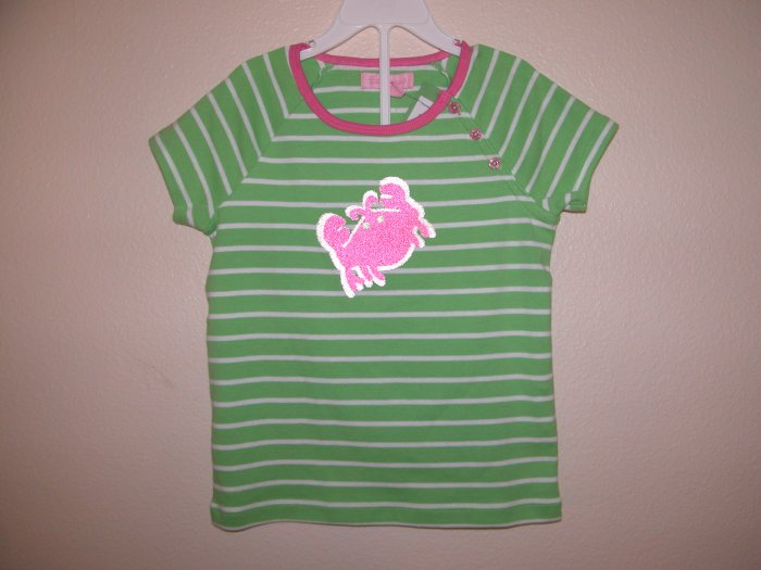 Lilly Pulitzer Olive Striped Top Skinny Seagrass