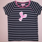 NWT Lilly Pulitzer Olive Striped Top Skinny True Navy 8