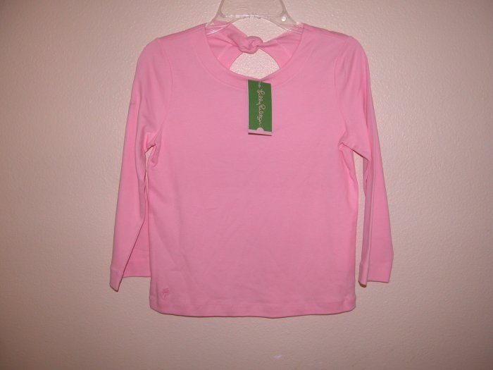 Lilly Pulitzer Tibby Top Lilly's Pink Tie Back Toddler Girls Size 6
