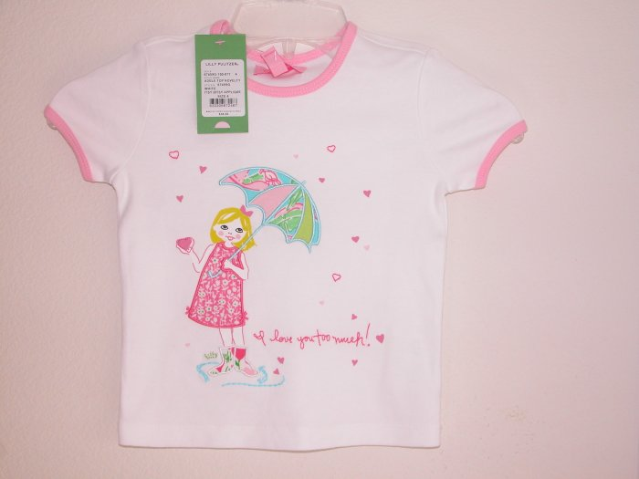 Lilly Pulitzer Adele Top Novelty Itsy Bitsy Applique Size 3