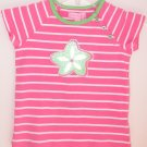 Lilly Pulitzer Olive Striped Top Hibiscus Pink Girls Size 4