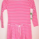 Lilly Pulitzer Maddy Striped Dress Skinny Pink Girsl Size 3
