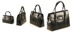 Black Italian Crystal Leather Executive HandBag