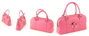 Pink Italian Soft Leather with Circle Galaday Logo