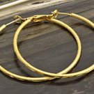 9k Gold Filled Etched Hoop Earrings