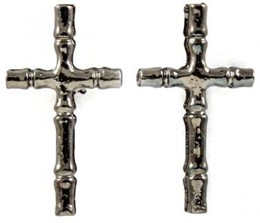 Black Malachite Cross Earrings