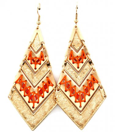 Indian Squaw Melon Twine Accented Earrings