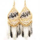 Navajo Indian Charms Filigree Earrings