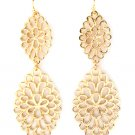 Navette Filigree Tear Drop Earrings