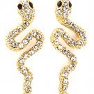 9k Yellow Gold Filled Crystal Snake Earrings