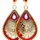 Retro GT Spiderweb Filigree Tear Drop Earrings
