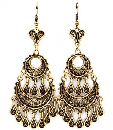 Tear Drop Indian Fringe Earrings
