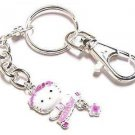 Hello Kitty Keychain Collectible Pink Daisy