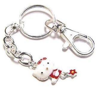 Hello Kitty Keychain Collectible Red Daisy