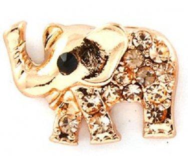 9k Rose Gold Filled Elephant Earrings