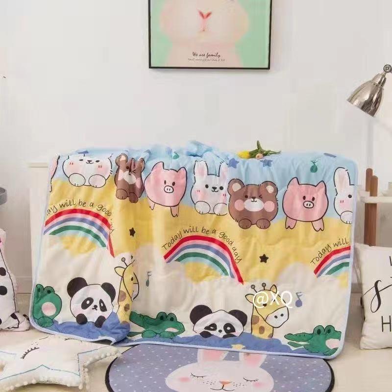 Rainbow Animal Baby Quilt