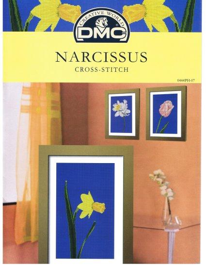 DMC's NARCISSUS FLOWER Cross stitch Pattern