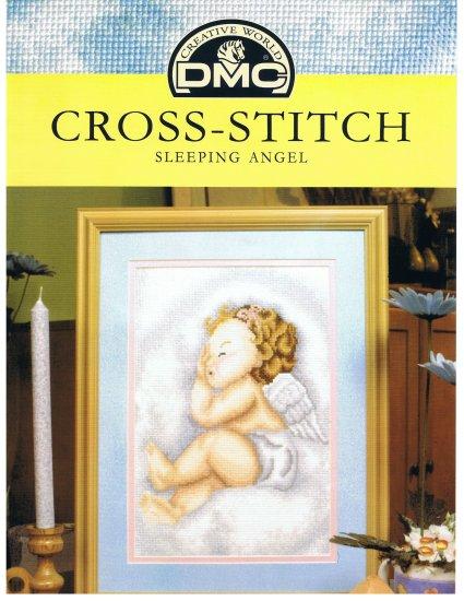 DMC's SLEEPING ANGEL Cross stitch Pattern