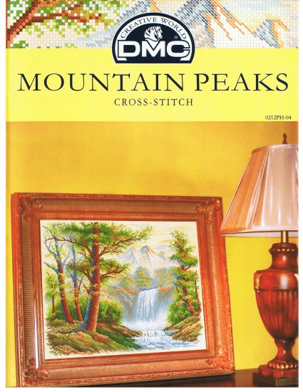 DMC's MOUNTAIN PEAKS Counted Cross Stitch Pattern