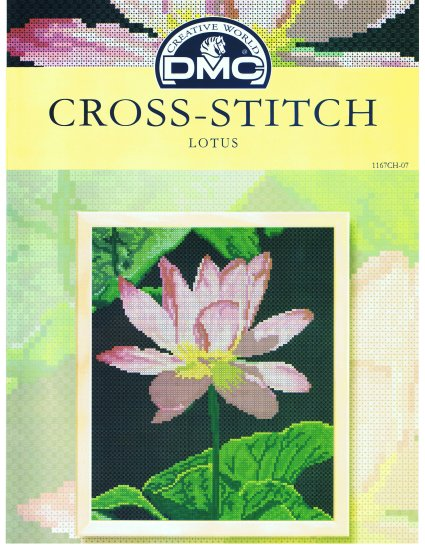 DMC's LOTUS FLOWER Counted Cross stitch Pattern