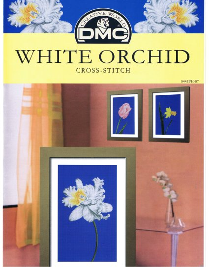 DMC's WHITE ORCHID Counted Cross Stitch Pattern