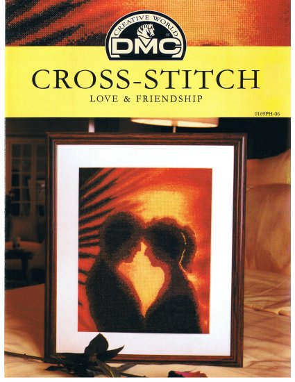 DMC's LOVE, FRIENDSHIP OR ENGAGEMENT Counted Cross Stitch Pattern