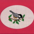 Finished Completed Cross Stitch Card - Bird and the Fruit