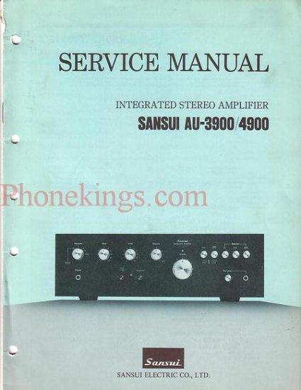 Sansui  AU-3900 / AU-4900 amplifier  Service  manual