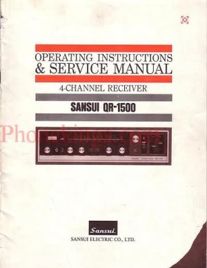Sansui  QR-1500  4 channel receiver  Service  manual