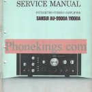 Sansui  AU-9900a  AU-11000a amplifier  Service  manual