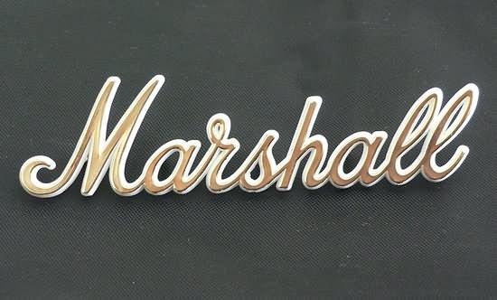 "NEW Original Marshall plexi amp Logo  6"" GOLD"