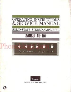 Sansui  AU-101 Stereo amplifier  Service  manual