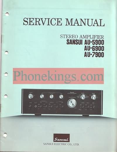 Sansui  AU-5900 AU-6900 AU-7900  Service  manual