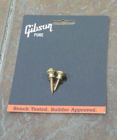 NEW Genuine Gibson Strap Buttons  with screws Brass