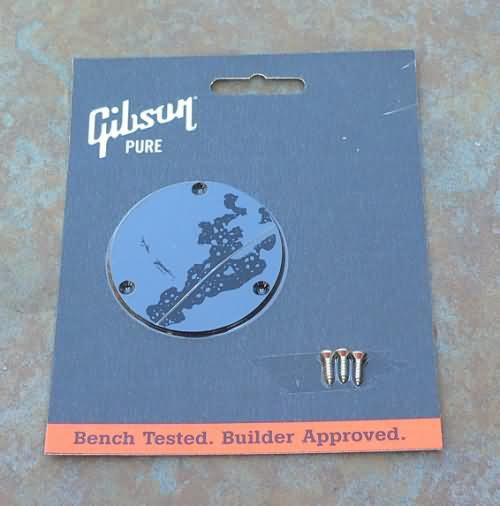 GibsonLes Paul  Backplate Switchplate cover Black
