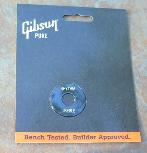 NEW Gibson Switch washer plate   BLACK / Gold Les paul