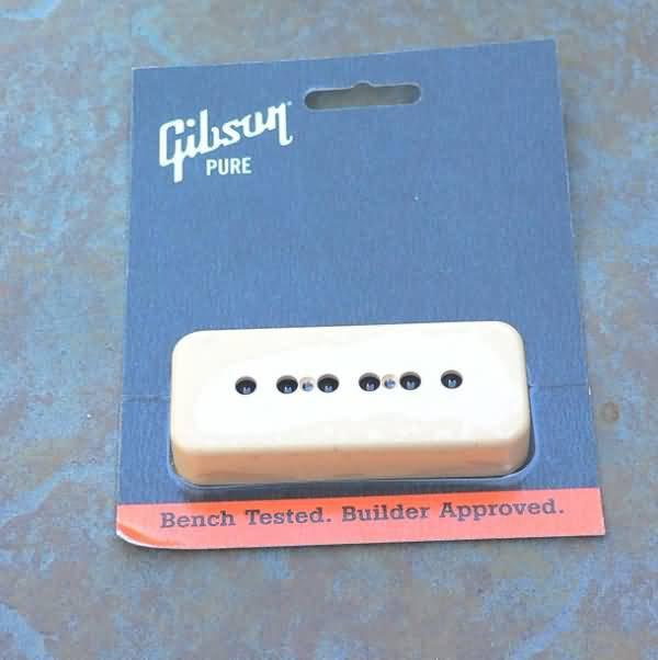 Genuine Gibson P-90 P90  pickup Cover Soapbar  CREME