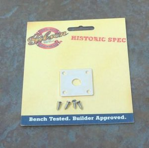 NEW Gibson Jack plate   CREME with screws HISTORIC