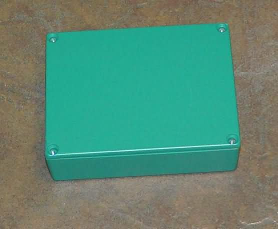 Diecast Aluminum Project  Box Hammond 1590BB size Green