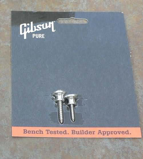 NEW Genuine Gibson Strap Buttons AL with screws