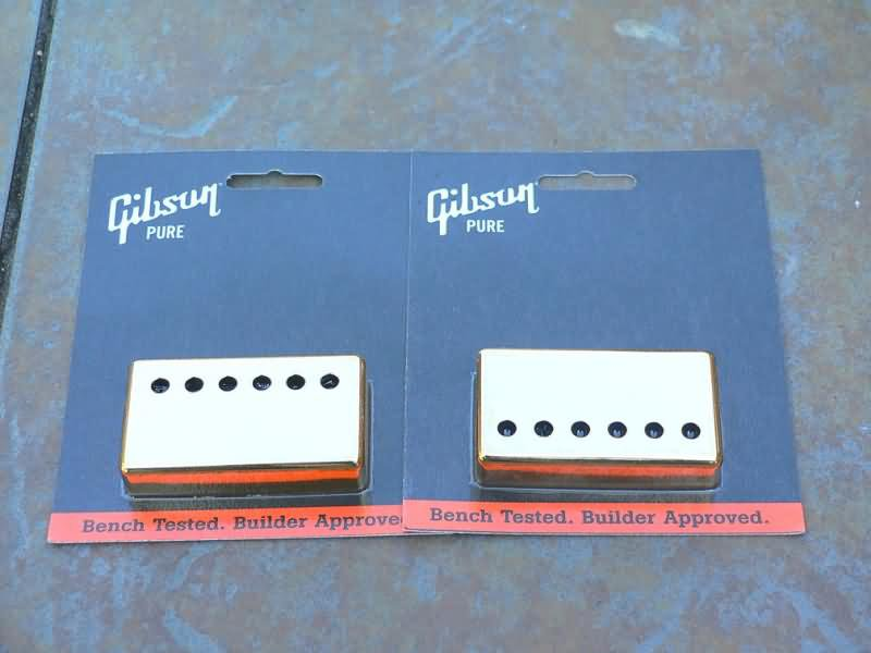 Genuine Gibson Les Paul  pickup Covers set   GOLD
