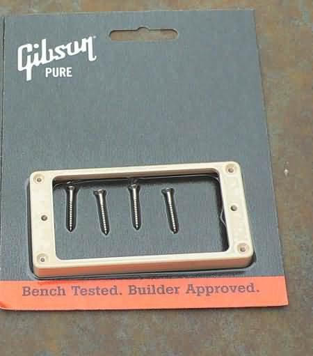 "NEW Gibson Les Paul  Pickup Ring BRIDGE 3/8"" CREME"